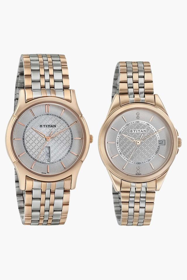 5df189c298 Buy TITAN Unisex Analogue Couple Watch - 16362565KM01 | Shoppers Stop