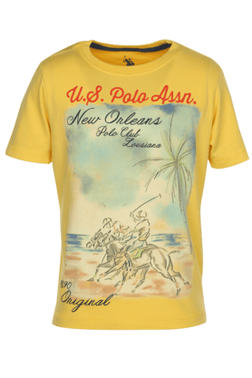 Boys Printed Crew Neck T-shirt