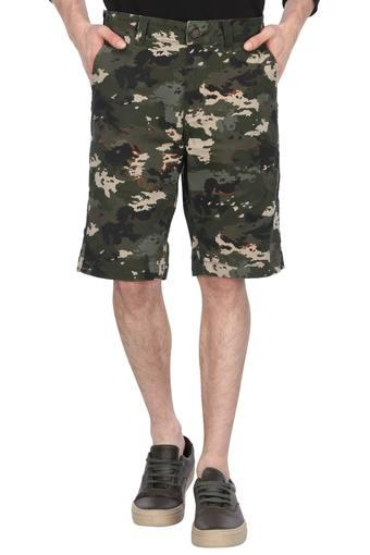 Mens 4 Pocket Camouflage Shorts