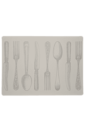 IVY Peva White Fork Placemat - Set Of 2