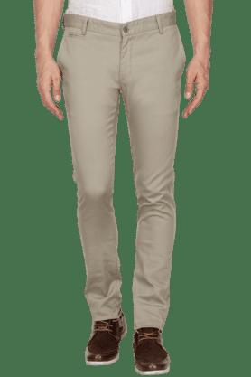 BLACKBERRYSMens Slim Fit Solid Chinos - 200889362