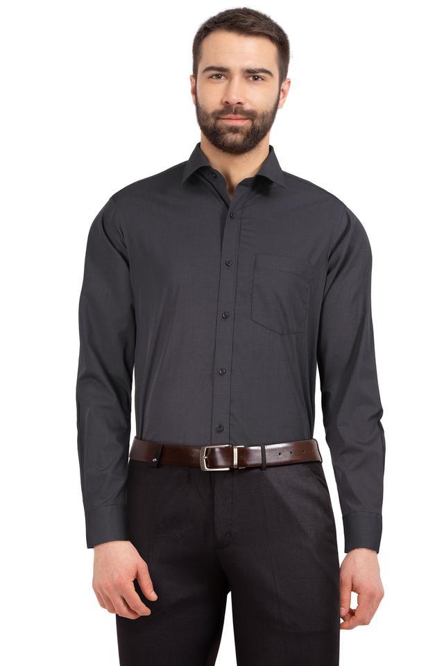 STOP - CharcoalFormal Shirts - Main