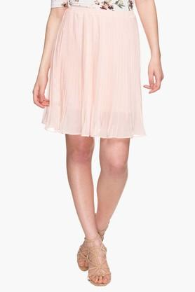 MSTAKENWomens Solid Flared Skirt