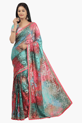 JASHN Womens Printed Saree - 201502714