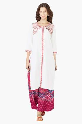 GLOBAL DESI Women's Embroidered Kurta