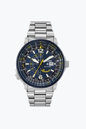 Mens Blue Dial Stainless Steel Chronograph Watch - BJ7006-56L