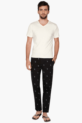 U.S. POLO ASSN. Mens Slim Fit Printed Trousers