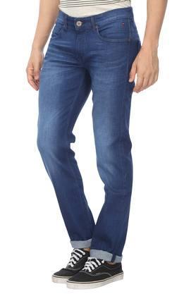 Mens 5 Pocket Whiskered Effect Jeans (Matt Fit)
