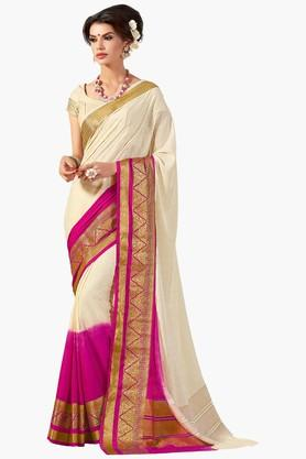 ASHIKA Womens Colour Block Golden Weave Saree - 201773735
