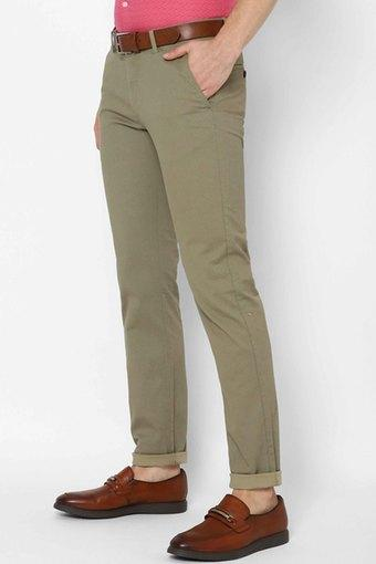 ALLEN SOLLY -  GreenCasual Trousers - Main