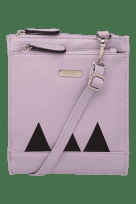 LAVIEWomens Emblica Leather Snap & Zipper Closure Sling Bag