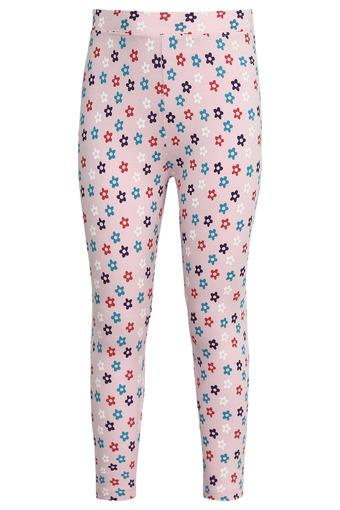 Girls Floral Print Tights