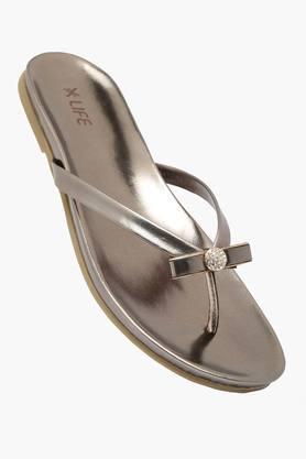 LIFEWomens Party Wear Slipon Flat Sandal
