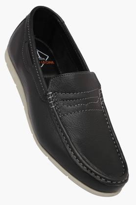 Mens Leather Slip On Loafers - 202211496