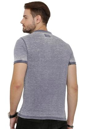 Mens Textured Polo T-Shirt