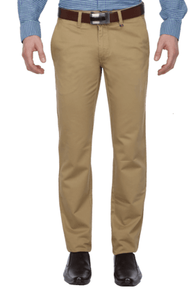LOUIS PHILIPPE SPORTS Mens 4 Pocket Slim Fit Solid Chinos