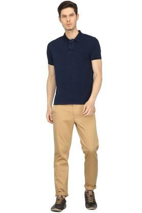 Mens Washed Polo T-Shirt