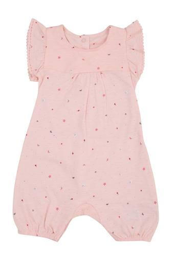 Unisex Round Neck Printed Babysuit