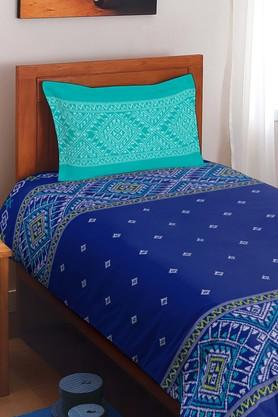 SPACESCotton Printed Single Bedsheet With Pillow Cover