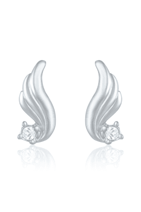 MAHI Mahi Rhodium Plated Fashion Wings Earring With Crystals For Women ER1191709R