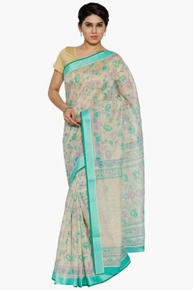 JASHN Women Blossom Print Cotton Saree