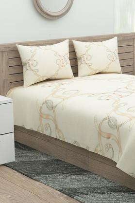 Printed Flat Bedsheet with 2 Pillow Covers