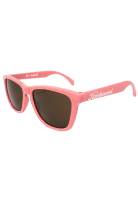 KNOCKAROUND Classic Premium Bio-Based Unisex Sunglasses Rose Pink/Amber-PRBB1004 (Use Code FB20 To Get 20% Off On Purchase Of Rs.1800)