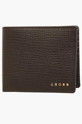 CROSS Mens 1 Fold Leather Wallet