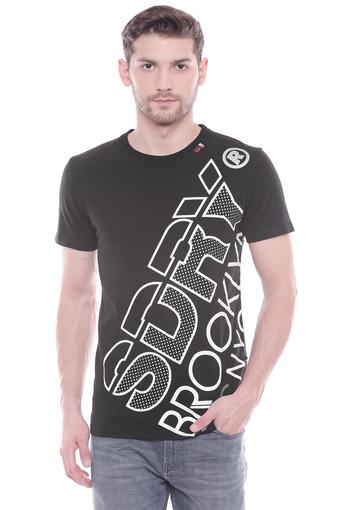 SUPERDRY -  Black T-Shirts & Polos - Main