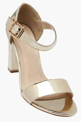 TRESMODE Womens Party Wear Ankle Buckle Closure Heel Sandals
