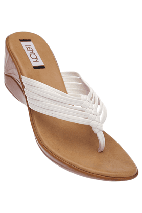 Womens Toned Wedge Slipon Sandal