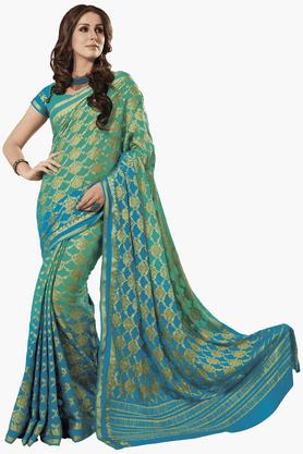 ASHIKAWomens Colour Block Saree - 201461567