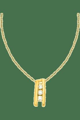 SPARKLESHis & Her Collection Women 9 Kt Gold Diamond Pendants HHPXP8835-9KT