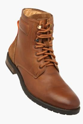 ALBERTO TORRESI Mens Leather Lace Up Casual Boot