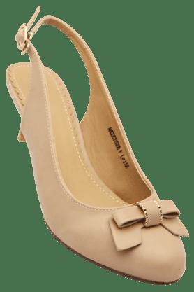 ALLEN SOLLYWomens Casual Ankle Buckle Closure Heel Sandal