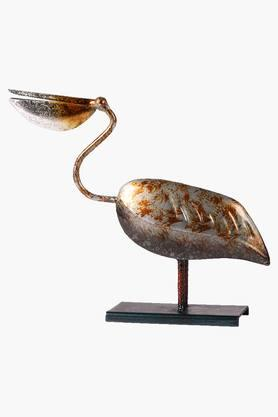 MALHAR Decorative Wrought Iron Pelican Bird Artifact Show Piece - 201734010
