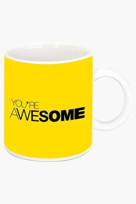 CRUDE AREA You Are Awesome Printed Ceramic Coffee Mug
