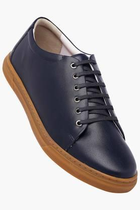 ALLEN SOLLY Mens Leather Lace Up Casual Shoes