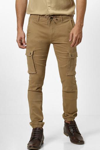 CELIO -  BrownCasual Trousers - Main