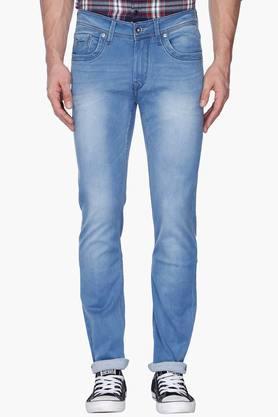 FLYING MACHINEMens Skinny Fit Mild Wash Jeans (Jackson Fit)