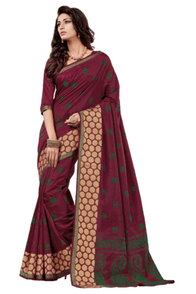 ASHIKA Womens Dupion Silk Saree
