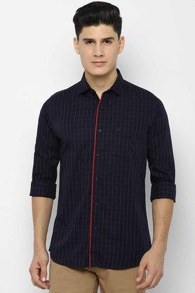 ALLEN SOLLY - Navy Casual Shirts - Main