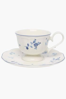 Round Printed Noblesse Cup and Saucer