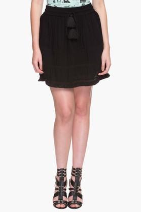 LIFEWomens Tasseled Mini Skirt