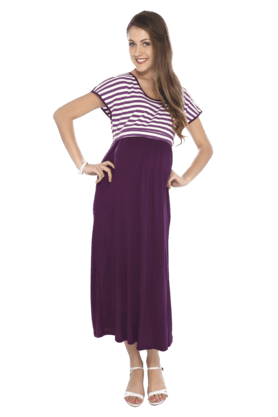 NINE MATERNITY Women Blended Dress - 200495627