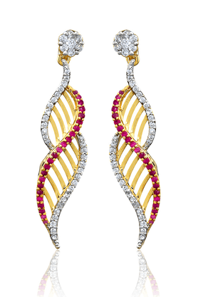 ZAVERI PEARLS Brass Drop Earring - ZPFK788