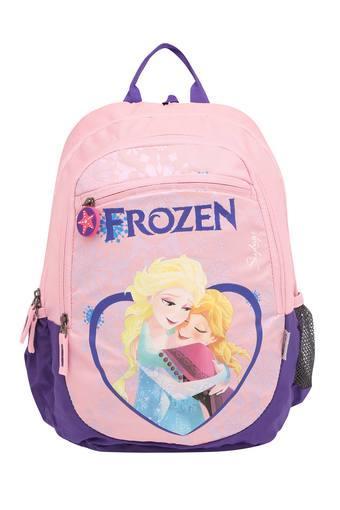 Girls Frozen Print Zip Closure School Bag