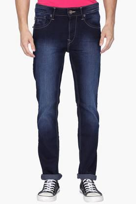 FLYING MACHINE Mens 5 Pocket Tapered Fit Mild Wash Jeans (Micheal Fit)