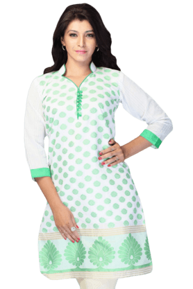 DEMARCA Womens Printed Kurta (Buy Any Demarca Product & Get A Pair Of Matching Earrings Free) - 200936863