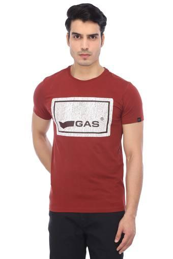 GAS -  Brown T-shirts - Main